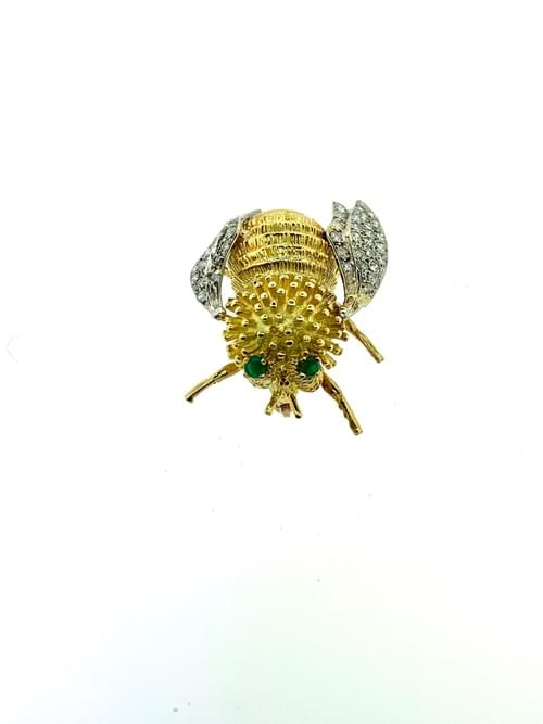 18k Gold Bee Pin
