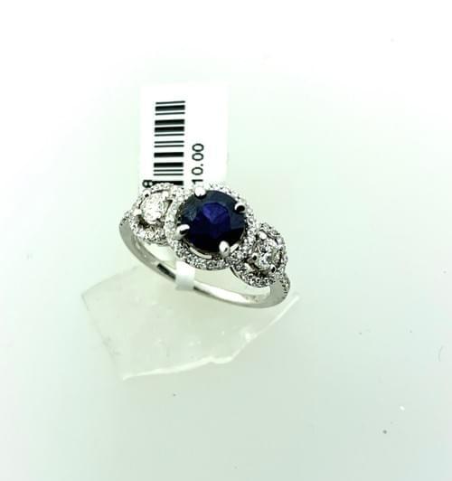 Dark Blue Sapphire Ring
