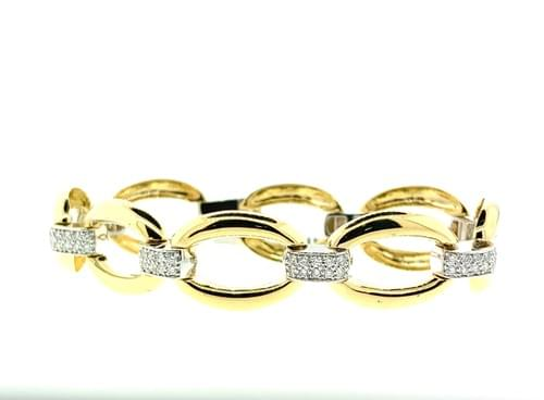 Italian Style Diamond Bracelet