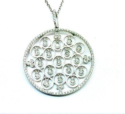 Hanging Bezel Necklace