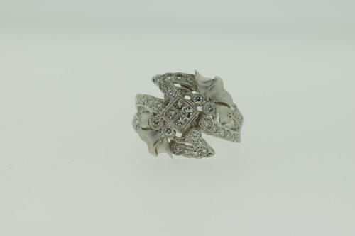 Antique Style Diamond Cocktail Ring