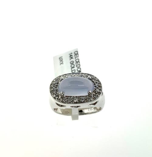 Chalcedony & Diamond Ring