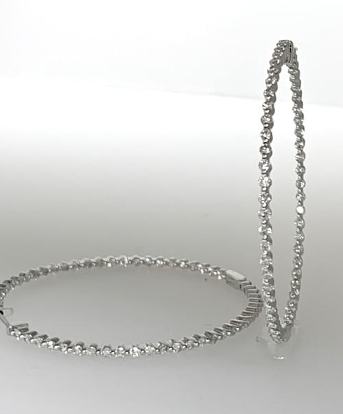 Inside - Out Diamond Hoop Earrings