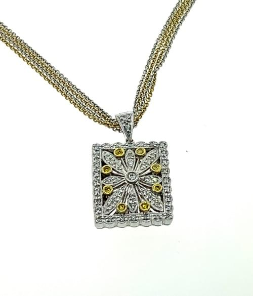 Yellow Diamond Locket