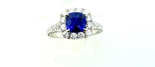 GIA Certified Blue Sapphire Ring