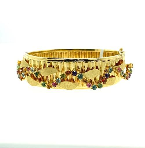 Colored Sapphire Bangle
