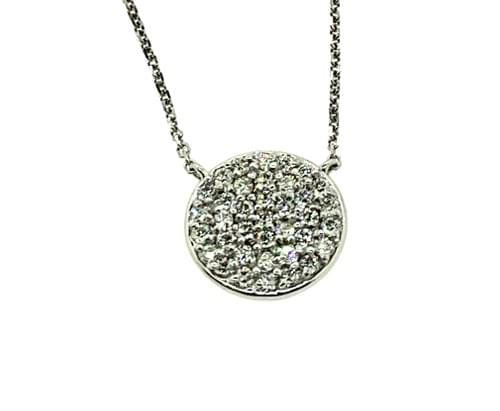 Round Diamond Encrusted Necklace