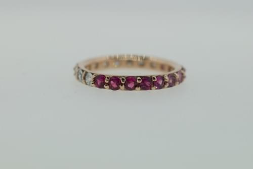 Pink Sapphire Ombre Ring