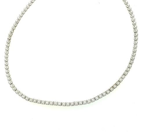 Mil-Grain Tennis Necklace