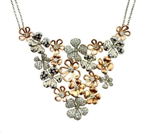 Custom Made Flower Necklace