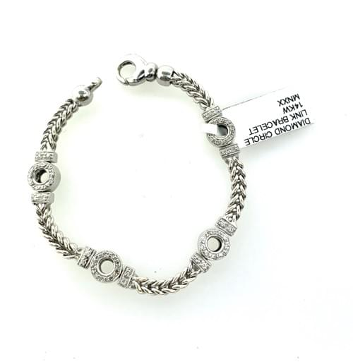Diamond Open Bracelet