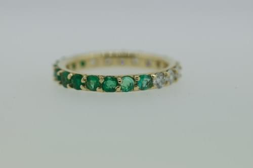 Emerald Ombre Ring
