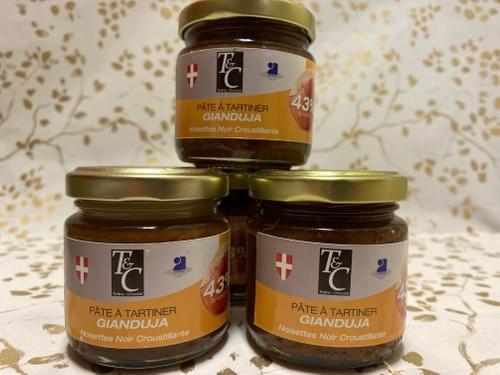 Pâte à tartiner - Noisettes Noir Croustillante - BIO - TARTINE CHOCOLAT