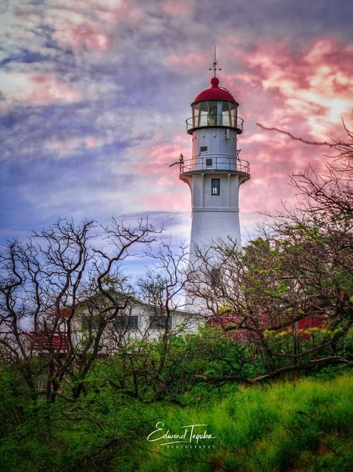 Lighthouse Moody Sky