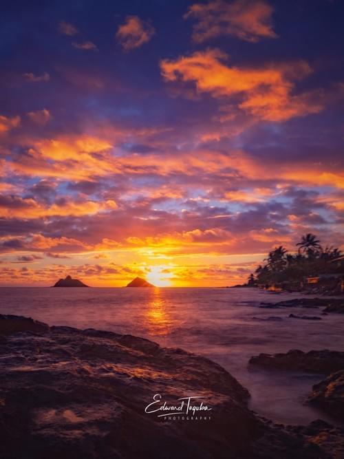 Burning Skies in Kailua