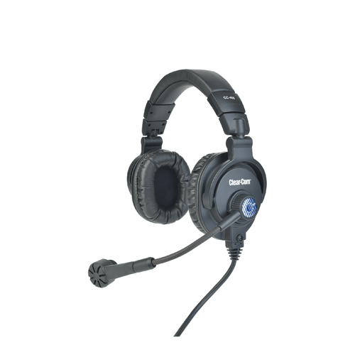 Clear-Com CC-400 雙耳 4Pin 超心形動態麥克風 耳機麥克風 對講耳機