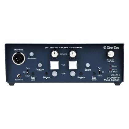 Clear-Com  CS-702  2-Channel Compact Main Station