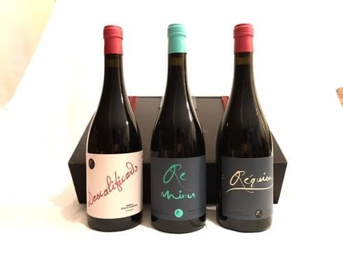 1 Botella Réquiem 2017 + 1 Botella ReMinor 2018 + 1 Botella Descalificado 2016