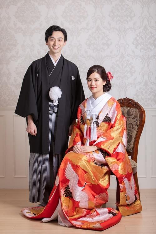 高級雙人和服婚紗照攝影-色打掛 棚內