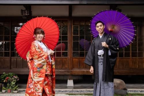 高級雙人和服婚紗照攝影-一套色打掛+一套白無垢or振袖(棚拍/外拍)