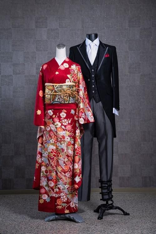 2020聯名限定套組 婚宴和洋搭配 雙人租借(含專人穿衣) VIP振袖+派迪男士晨禮服