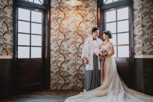 高級雙人和服婚紗照攝影-一套色打掛+一套白紗