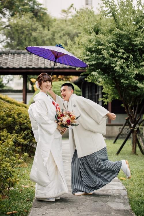 高級雙人和服婚紗照攝影-色打掛/白無垢  (台北紀州庵/逸仙公園)
