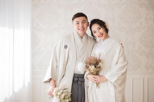 高級雙人和服婚紗照平面攝影+婚紗動態側錄-一套色打掛+一套白無垢or振袖(棚拍/外拍)