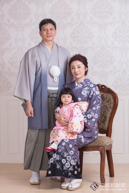 日式抓周宴  3人和服租借&髮妝 套組