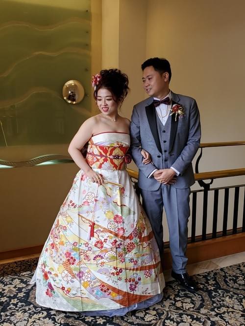 婚宴/婚紗拍攝 新娘和服租借(含專人穿衣) VIP款振袖- 西式婚紗式穿法