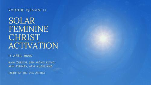 Meditation & Recording: Solar Feminine Christ Activation