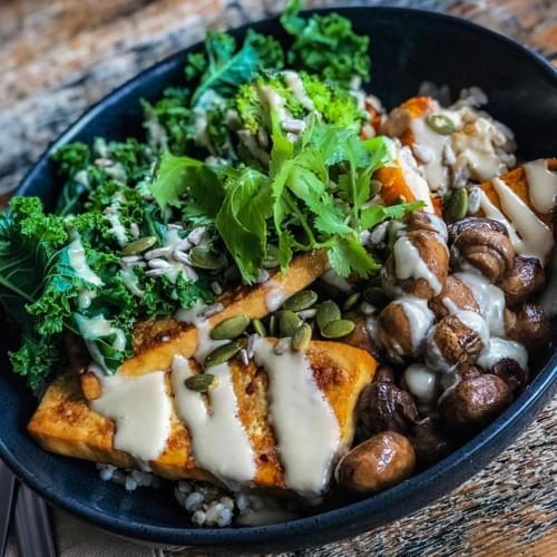 YOGI BOWL WITH TOFU STEAK - GF, DF, SF, V