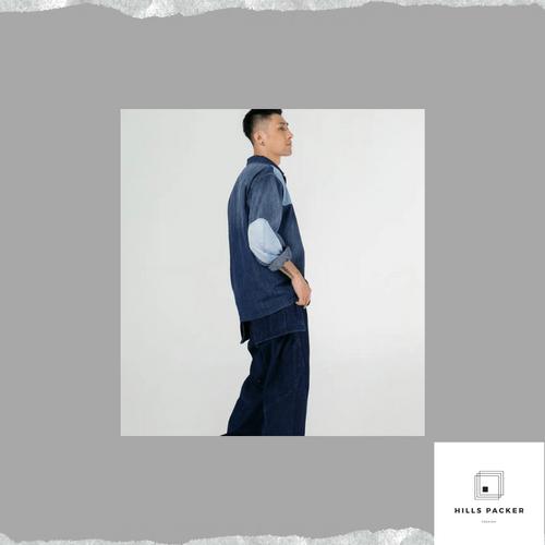 PRTH牛仔復古潮流長袖工裝