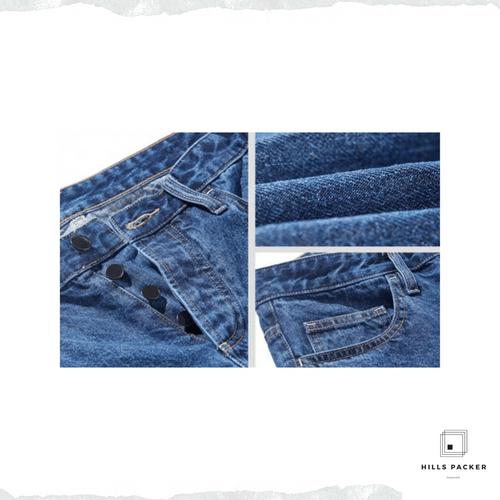 PRTH簡約復古工裝直筒褲
