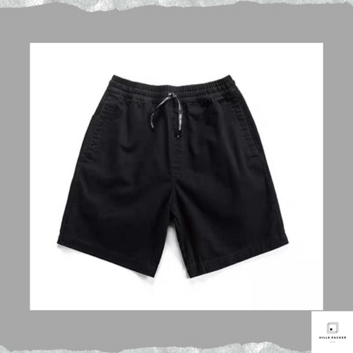 PRTH寬鬆直筒夏季斜布短褲