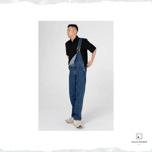 PRTH 夏季薄款牛仔工裝褲