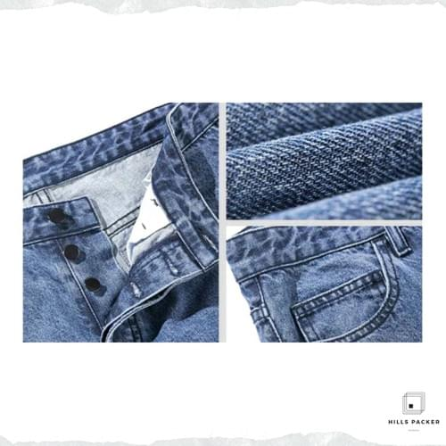 PRTH經典復古工裝直筒褲