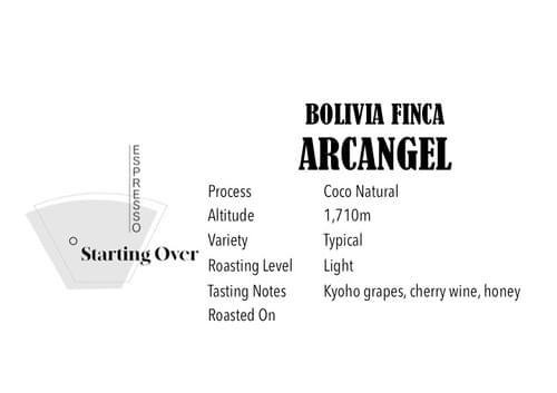 Bolivia Finca Arcangel