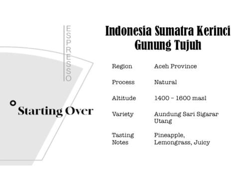 Indonesia Sumatra Kerinci Gunung Tujuh