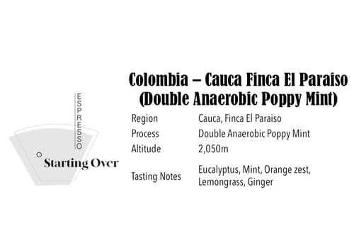 Colombia Cauca Finca El Paraiso(Double Anaerobic Poppy Mint)