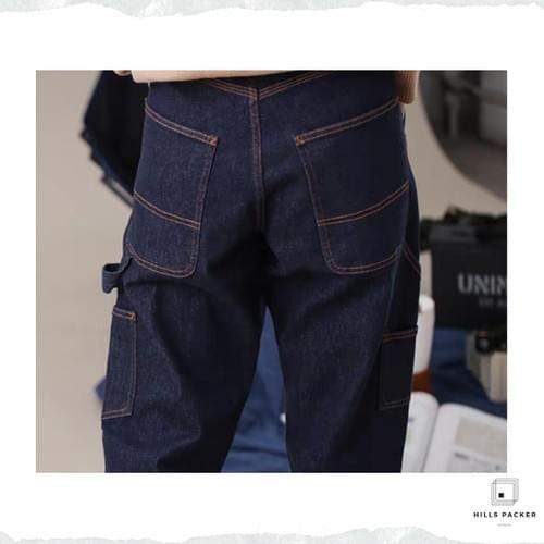 PRTH美式經典不脫色純棉牛仔褲