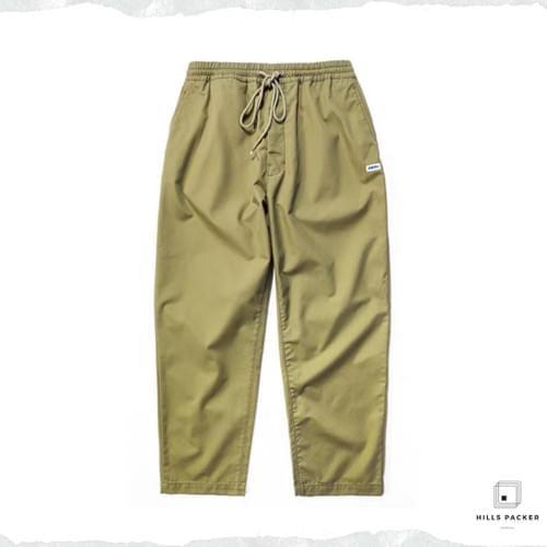 PRTH寬鬆薄款卡其色直筒長褲