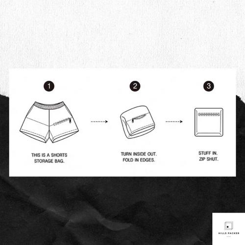 PRTH 雙色拼接可收納短褲