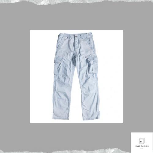 PRTH簡約百搭透氣工裝牛仔褲