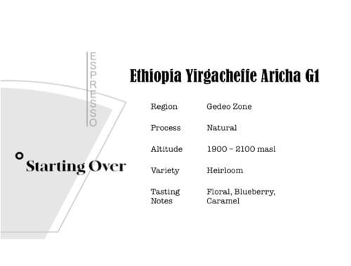 Ethiopia Yirgacheffe Aricha G1