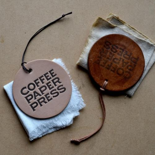 COFFEE LEATHER / COASTER & KEY HOLDER