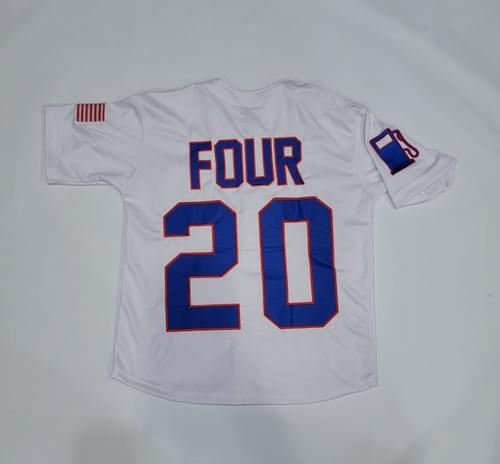 WHITE TACKLE TWILL JERSEY