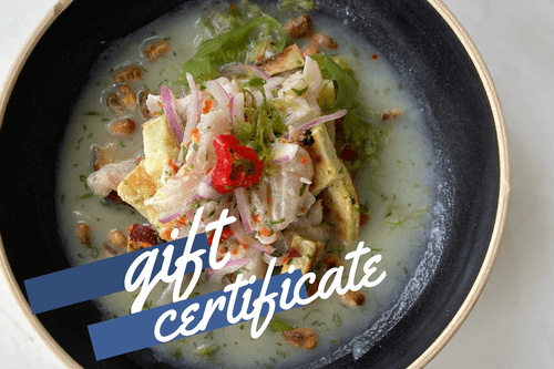 Cooking Class Gift Certificate