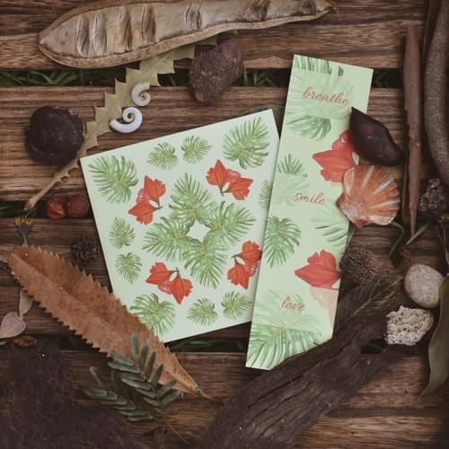 Monstera Leaf card + bookmark
