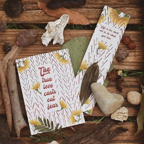 True Love card + bookmark
